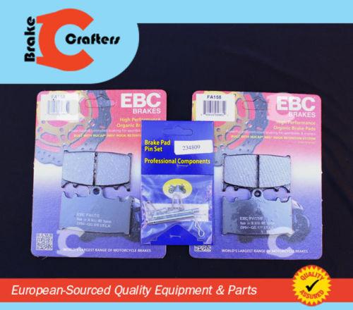 FRONT EBC PERFORMANCE ORGANIC BRAKE PADS /& PINS FOR 2001 SUZUKI GSX-R600