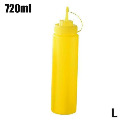 1X Large Squeeze Sauce Bottle Dispenser Mayo Ketchup BBQ Mustard Condiment G2X4