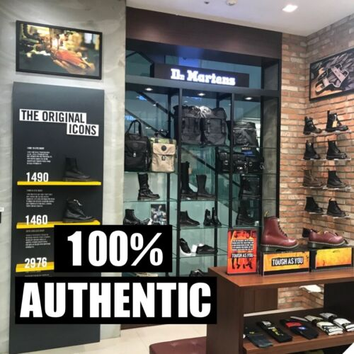 Dr Martens  8 Hole 1460 Dragon Embroidered Boots Smooth Black 25442001 UK 3-UK9