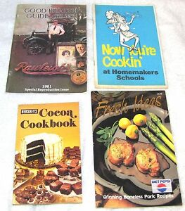 4-SMALL-COOK-BOOKS-HERSHEY-039-S-DIET-PEPSI-OTHERS