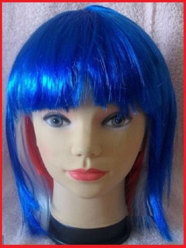 Aussie BOB WIG Red White Blue AUSTRALIA Commonwealth Olympic Costume Party NEW