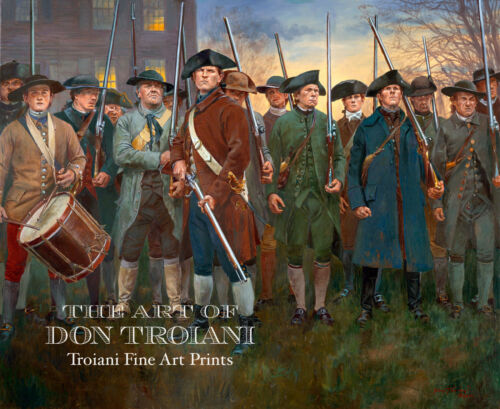"1775/"" Don Troiani Revolutionary War Print April 19 /""Lexington Common"