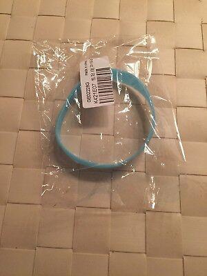 1 X Modisch Trendy Hipp Gummi Armband In Türkis/ Hellblau Neu&ovp Bequemes GefüHl