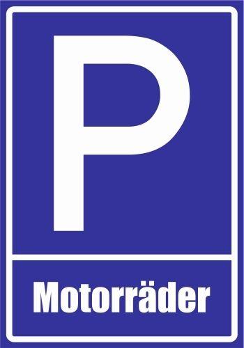 plaza de estacionamiento letreros aludibond Paf0095 las motocicletas PVC pegatinas