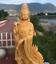 Chinese-Boxwood-Wood-Carving-Guan-Yin-Ride-Dragon-Goddess-Bodhisattva-Statue thumbnail 3
