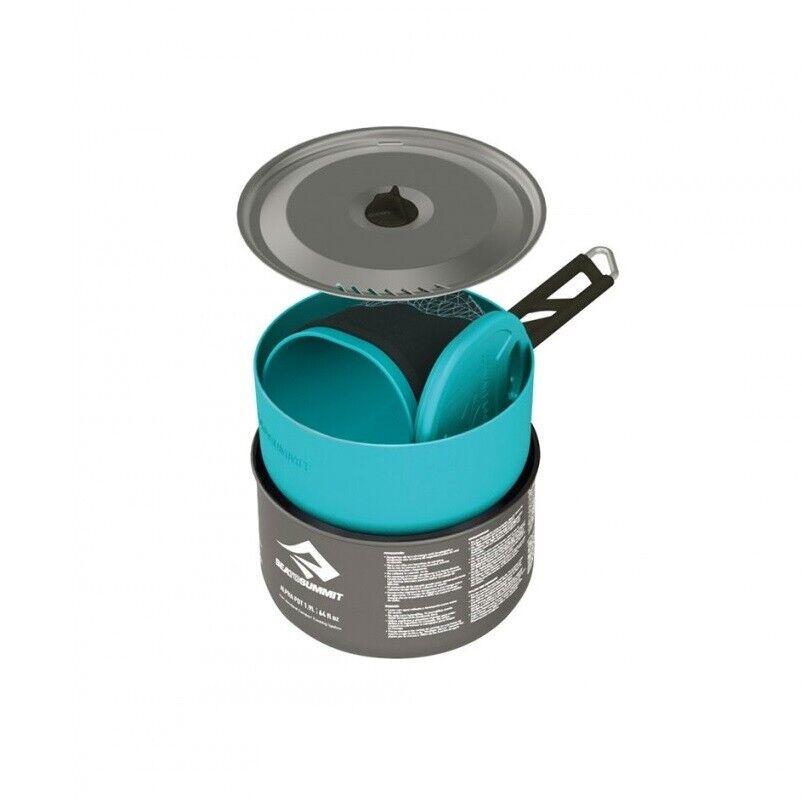 Sea to summit alphaset 1.1 campamento de utensilios de cocina de aluminio anodizado duro Set Pot Alfa
