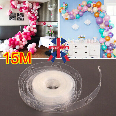 5//10//15M Balloon Strip Arch Party Connect Chain Plastic Tape Decorating Wedding