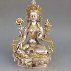Tibet silver gilt bronze Tibetan Buddhist statues - White Tara Buddha