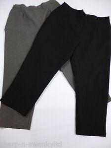 Damen-Schwarz-oder-Grau-Smart-Gerades-Bein-Arbeitshose-UK-20-Eu-48