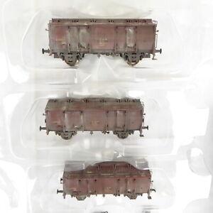 Saxonia-Modellbau-Piko-54441-2-3-Stueck-Klappdeckelwagen-Tm5605-gealtert-DR-Ep4