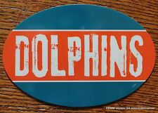 Miami Dolphins Oval Car Magnet Made In The USA Football Sports Decor Waterproof