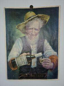 Vintage  PAUL JONES Louisville Kentucky Pure Rye Whiskey Poster / Sign