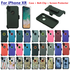 official photos 46fbe de5da Details about For Apple iPhone XR Defender Case Cover w/Screen&Belt Clip  fits Otterbox