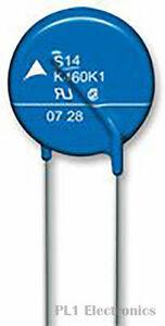 EPCOS    B72205S0200K101    Varistor, B722 Series, 26 V, 100 A, Disc 5mm, Metal