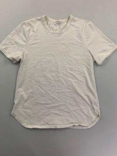 Frame Men's White Short Sleeve Ringer Tee Size XL