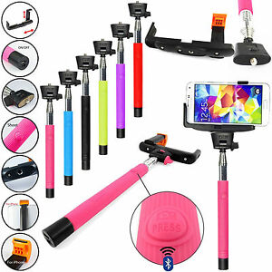 strong selfie stick telescopic bluetooth wireless remote for iphone 6 5s 5 4s ebay. Black Bedroom Furniture Sets. Home Design Ideas