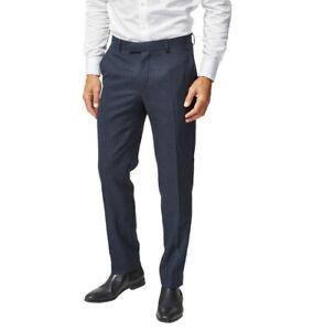 Richard-James-Mayfair-Herren-geschliffener-Wolle-Slim-Anzug-Hose-dunkelblau-38-Regular-175