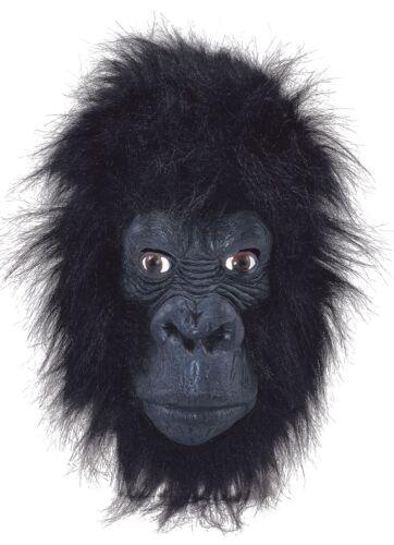 Adulto Pelo Gorilla GOMMA Maschera Animale Halloween Costume Travestimento