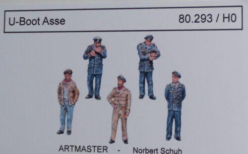 Artmaster 80.293 personnages sous-marin ASSE h0 1:87 Kit peints resin