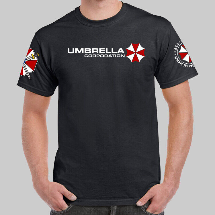 Resident Evil T Shirt Blood Dripping Umbrella Logo Blue L For Sale