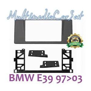 Mascherina-Autoradio-2-Doppio-Din-BMW-S5-E39-Senza-Navi-Cornice-Montaggio-3568