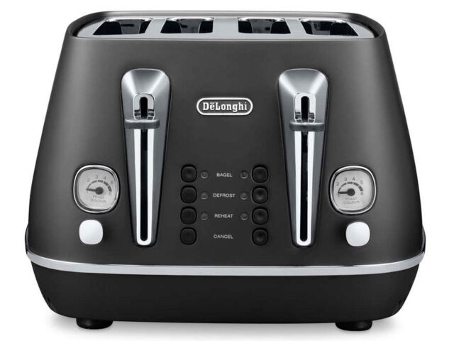 DeLonghi CTI4003BK Distinta 4 Slice Toaster - Elegance Black - HURRY LAST 1!