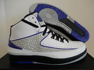 0542a6ffc534da MEN S NIKE AIR JORDAN 2 RETRO WHITE-DARK CONCORD-BLACK-GREY SZ 17 ...