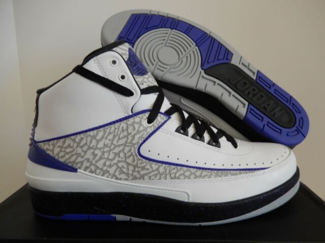 wholesale dealer b2600 06b80 Men's Nike Air Jordan Retro II White Gray and Purple Leather Lace up Size 14