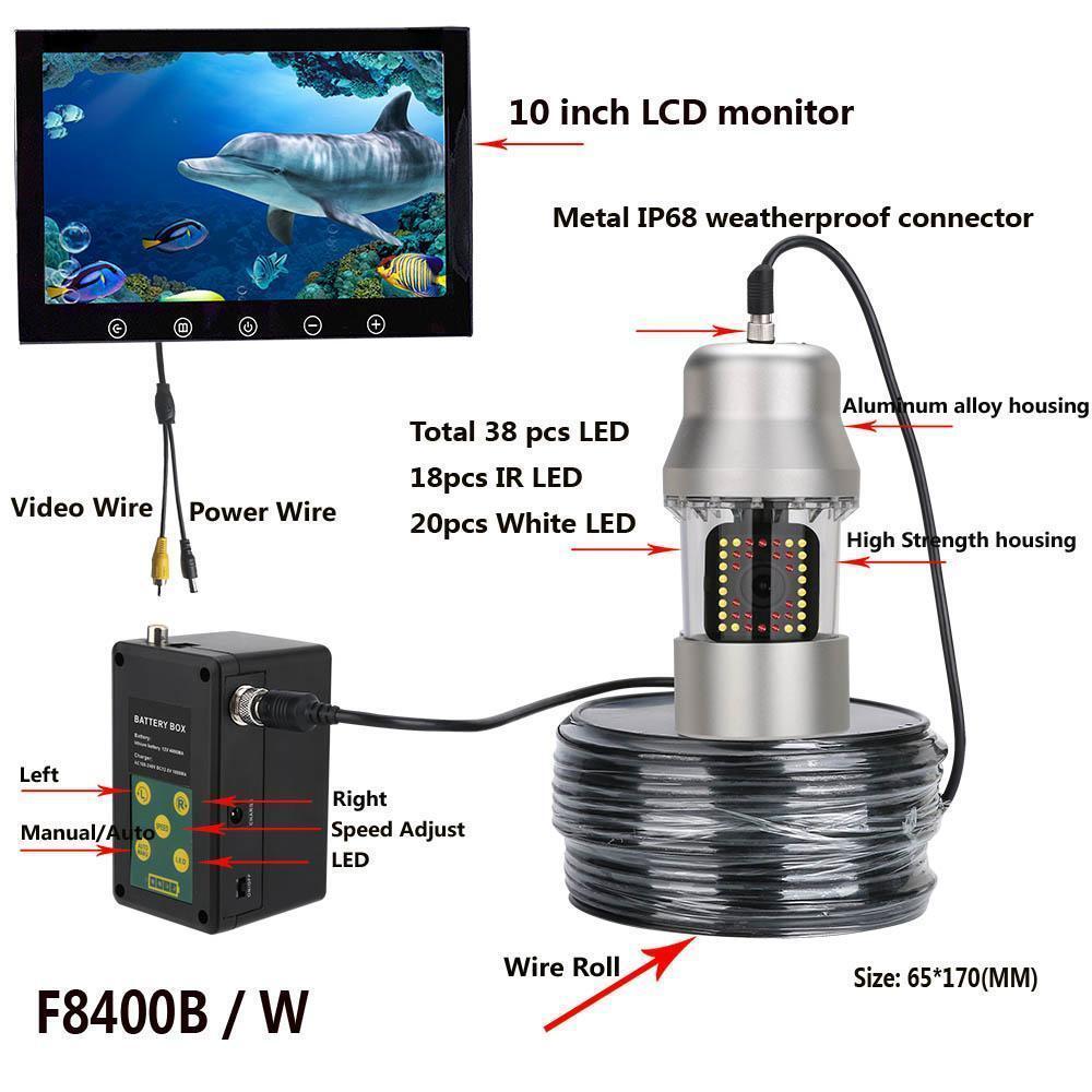 10 inch underwater fish finder ir white