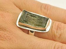 MOLDAVITE NATURAL RING SILVER.925 25x15x5mm - US 6 1/2 - 6.52g #RING825