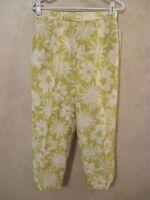 Robbie Bee Size 6 Lime Green Silk Lined Career Dress Crop Pants