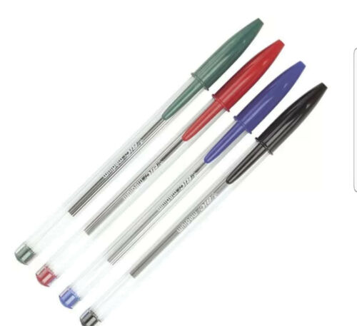 1.0MM IN BLACK,BLUE AND RED. ORIGINAL BIC CRYSTAL PENS MEDIUM