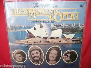 LUCIANO-PAVAROTTI-JOAN-SUTHERLAND-Great-moments-of-Opera-LP-AUSTRALIA-1983-EX