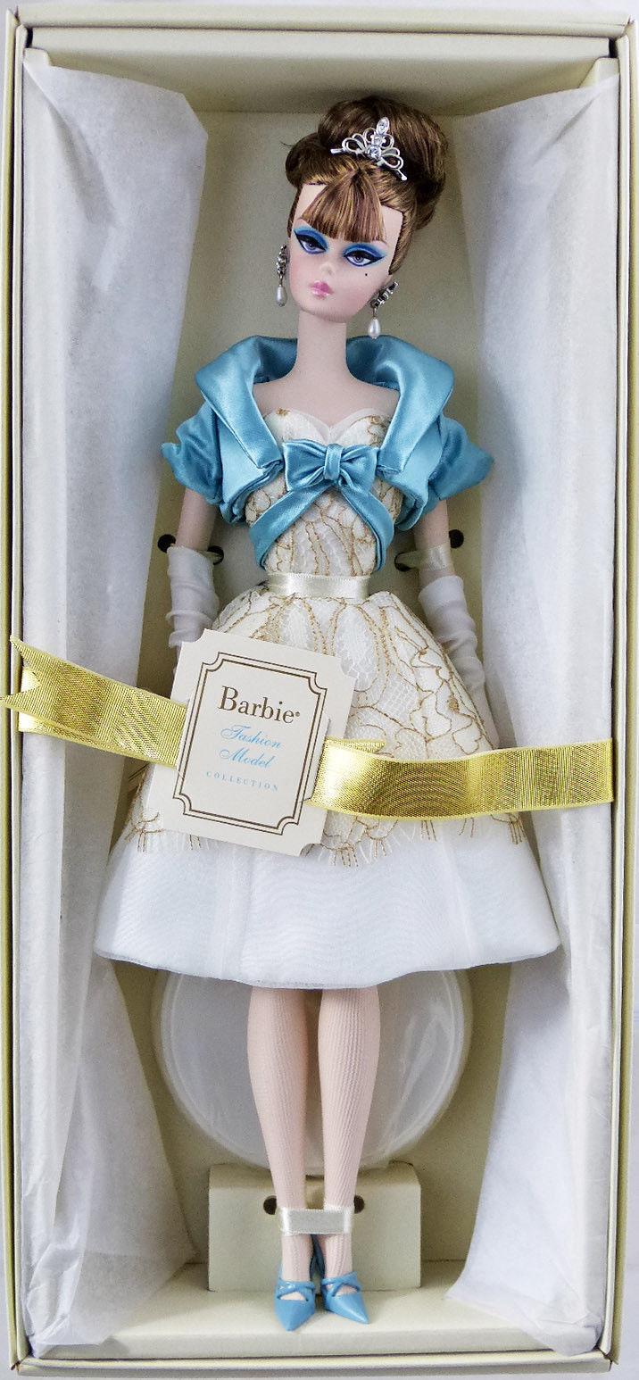 Vestido de fiesta modelo de de moda muñeca Barbie Silkstone oro Label  W3425 nuevo nunca quitado de la Caja de 2011