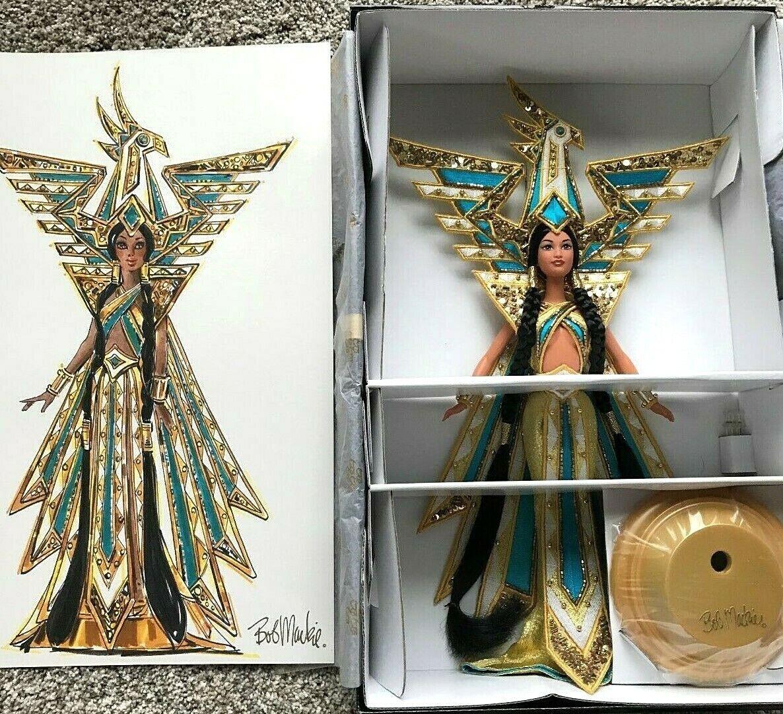 Bob Mackie Barbie Muñeca Fantasía Diosa de las Américas Nuevo con caja de remitente nfrb