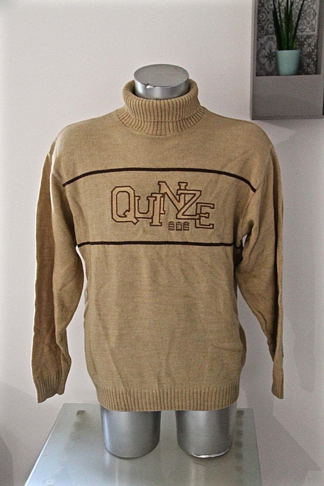 Carino maglione a collo alto camel SERGE BLANCO 15 taglia XL