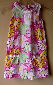 9a25e61e7a1505 BABY GAP Girls Pink Green Floral Print Dress Sleeveless SIZE 5 | eBay
