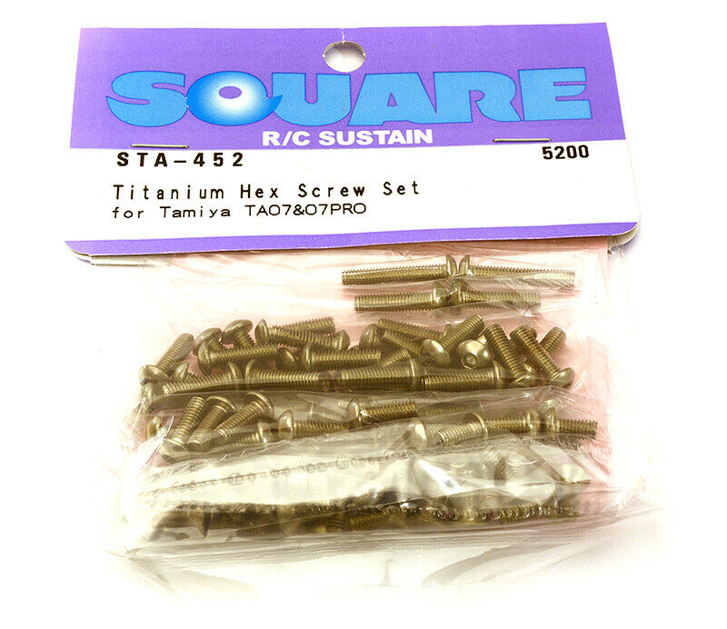 consegna e reso gratuiti Integy SQ-STA-452 Square R C Titanium Hex Screw Set (for (for (for Tamiya TA07 PRO)  sconto di vendita