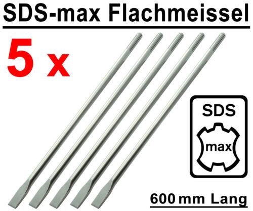 5 Stück SDS-max Flachmeißel 600 mm Lang Stemmmeißel für Bohrhammer Stemmhammer