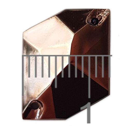20pcs 13x16mm Rhombus AB Sew On Gems Resin Rhinestone Costume Embellishments