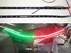 "2x Boat Navigation LED Lighting RED & GREEN 12"" Waterproof Marine LED Strips"