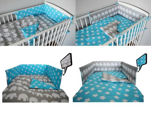 BLACK CHEVRONS+MORE DESIGNS Baby Bedding Set fit Cot 120x60cm or Cot Bed 140x70