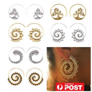 1836baefe Image is loading Womens-Boho-Bohemian-Infinity-Spiral-Gypsy-Earrings-Tribal-