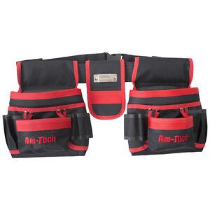 La imagen se está cargando 20-bolsillos-cinturon-de-herramientas -doble-bolsa-bucles- 6f6f2311f2ba