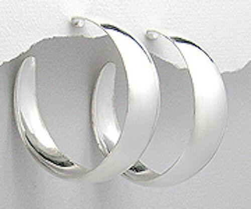 Élégant 40mmx12mm solid sterling silver Big /& Gras Boucles d/'oreilles Créoles 12 G Ret $160