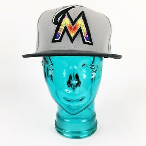 Details about New Era 59FIFTY Miami Marlins Hat 2 Tone Sz 7 1/4 Fitted Cap  MLB
