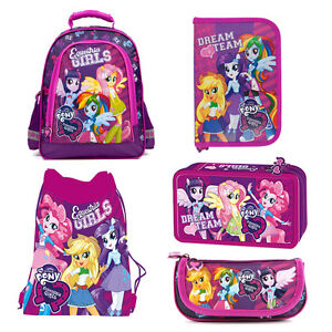 2c875391c177 Image is loading Equestria-Girls-My-Little-Pony-Backpack-FILLED-Double-