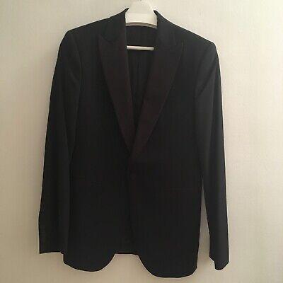 Aggressivo H&m Premium Uomo Blazer Nero Eu44 100% Lana-mostra Il Titolo Originale
