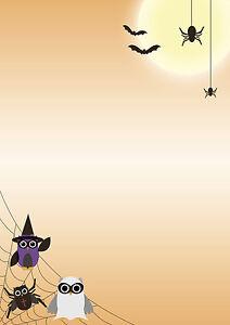 motivpapier briefpapier halloween spider eulen 50 blatt din a4, Einladungen