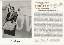 SPFC07 WWII RAF Fighter Command Spitfire ace F1 driver GAZE DFC* signed photo